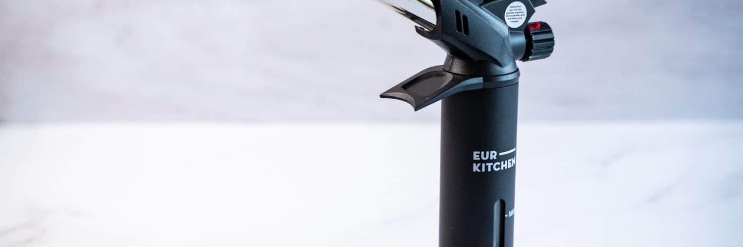 Side view of the EurKitchen Torch standing against a white background.